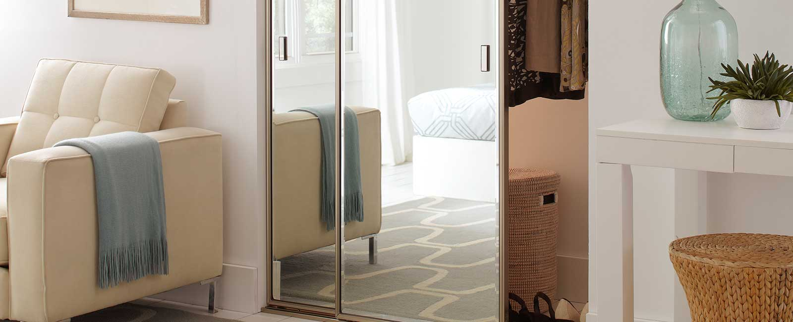 Custom Closet Mirrored Doors From